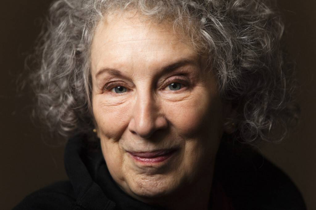 File photo of Canadian author Atwood posing for a portrait in Toronto